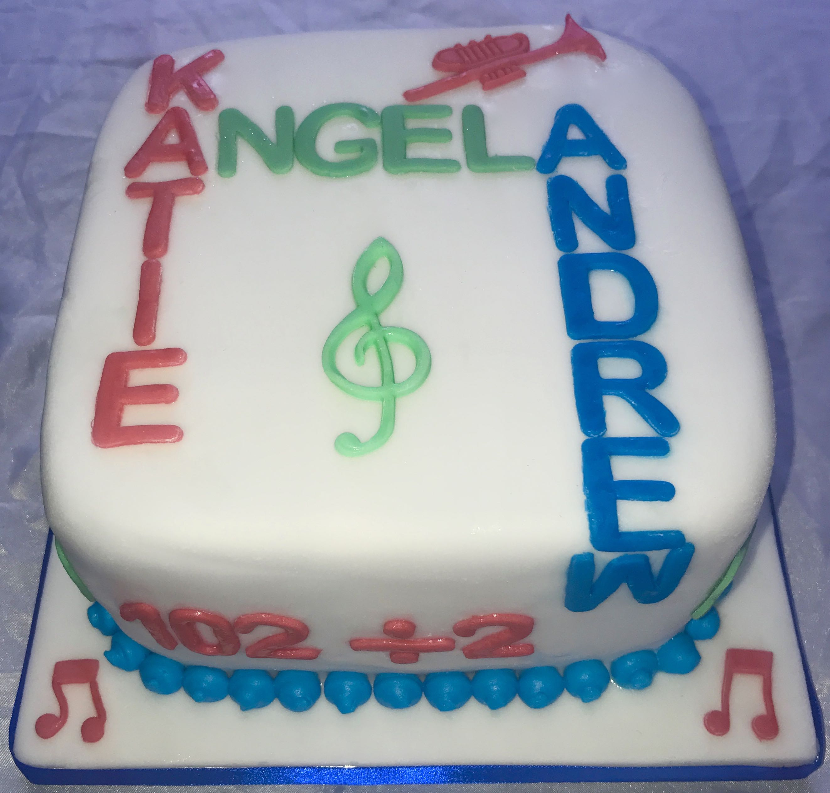 Joint Birthday Music Cake