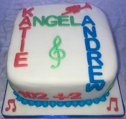 Joint Birthday Music Cake