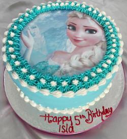 Frozen 5th Birthday Cake