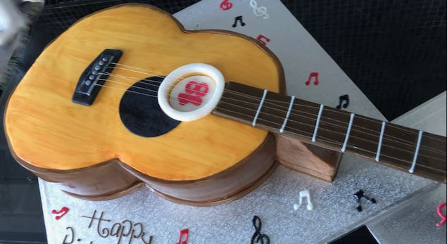Guitar 18th Birthday cake