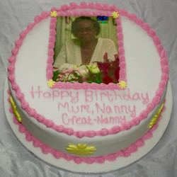 Nanny Photo Birthday Cake