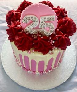 25th birthday drip cake