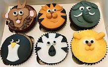 Animal face cupcakes