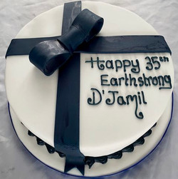35th Birthday rum cake