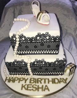 Lace Design Shoe Cake