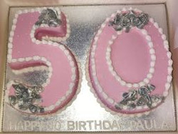 50th Birthday number cake