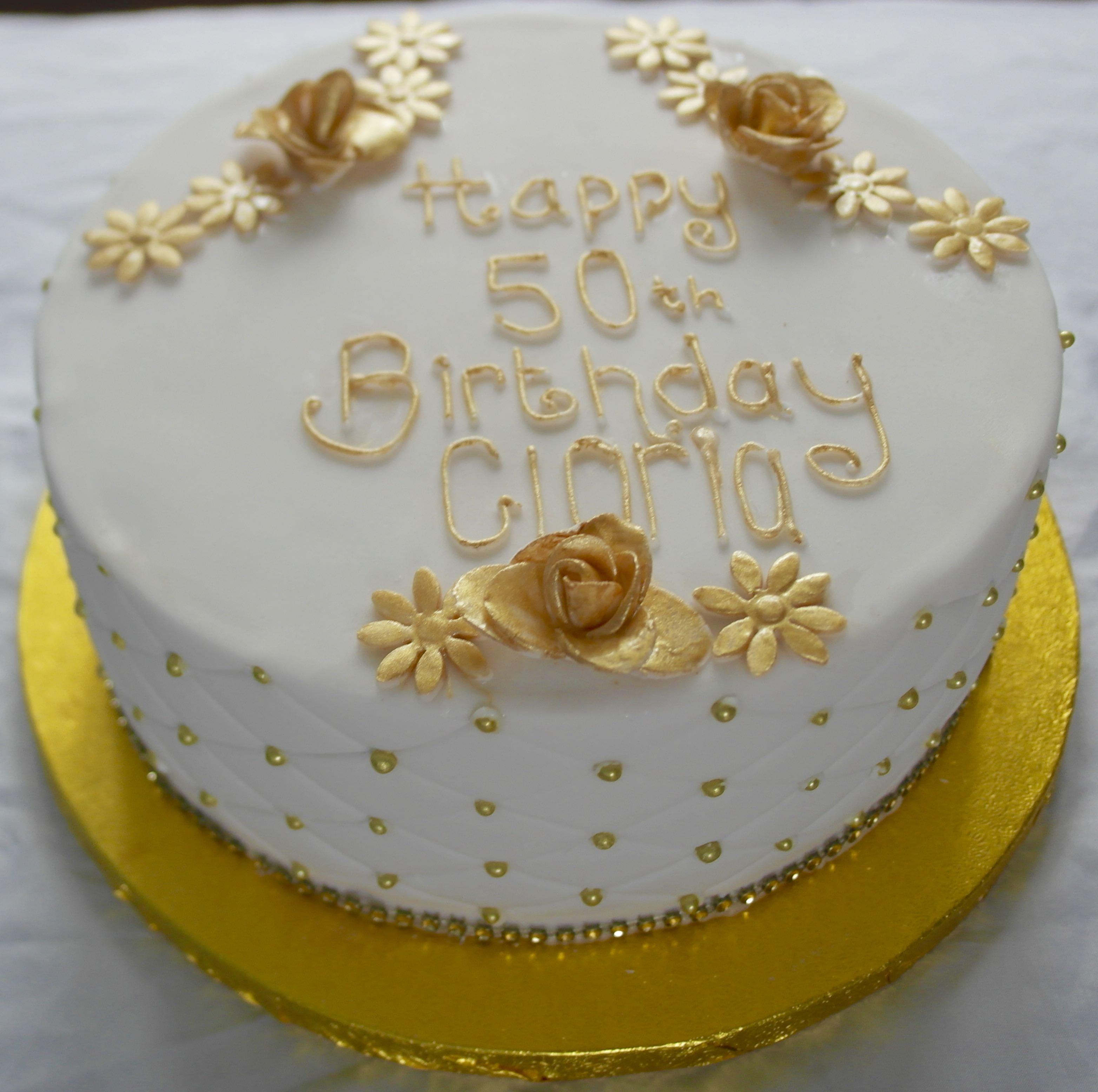 50th Birthday Cake with Pin Cushion Design