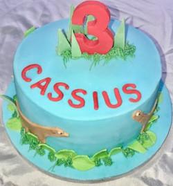 3rd Birthday Animal Themed Cake