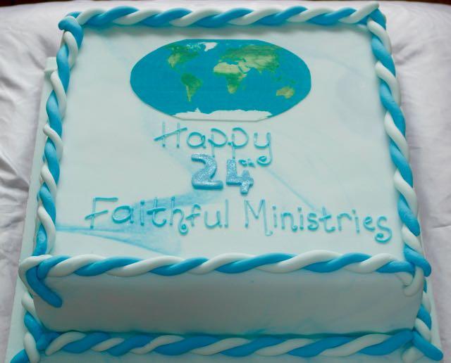 24th Anniversary Photo Image cake