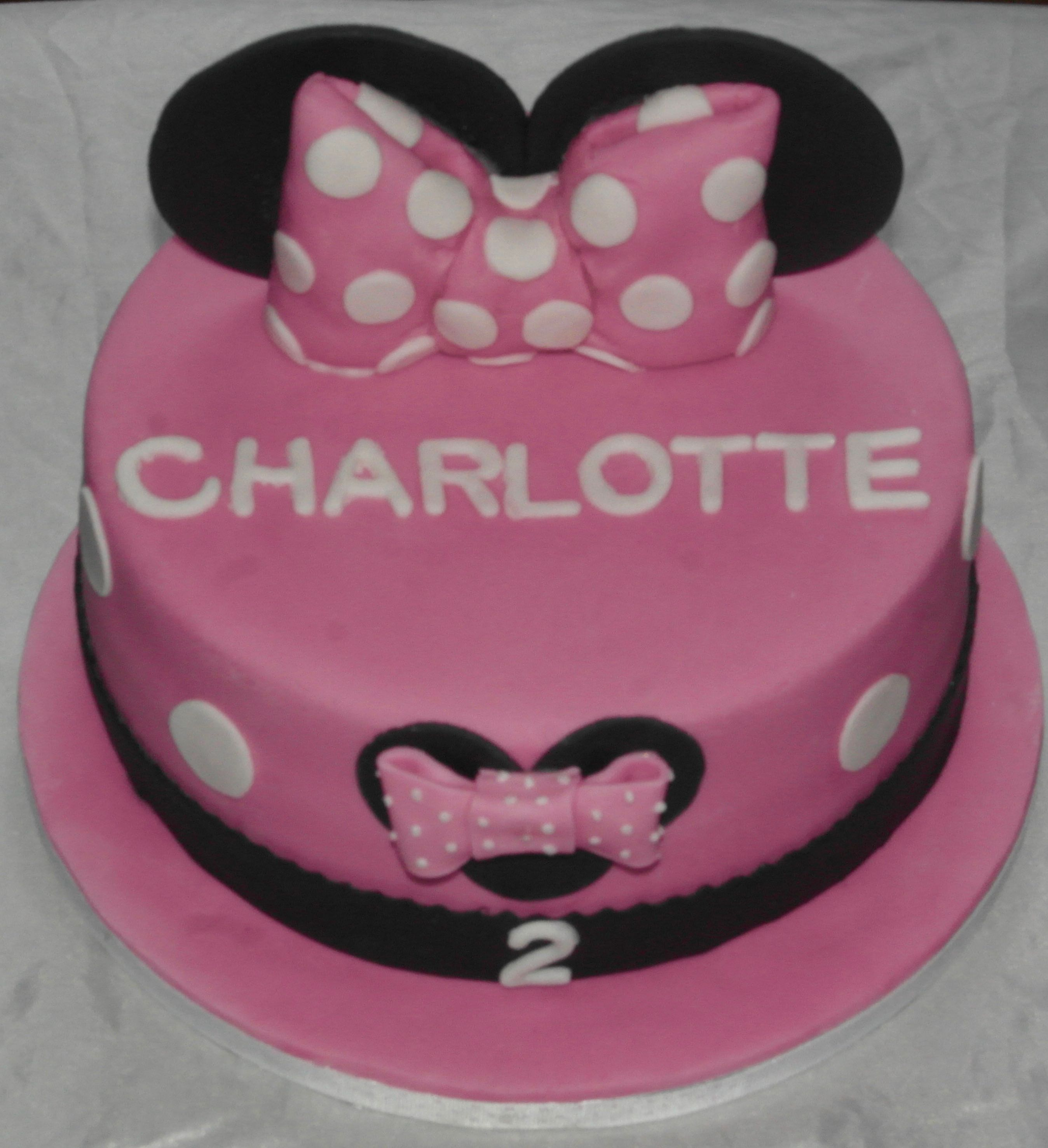Mini Mouse 2nd Birthday Cake