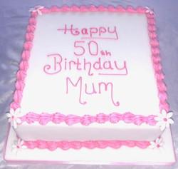 50th Birthday cake for mum
