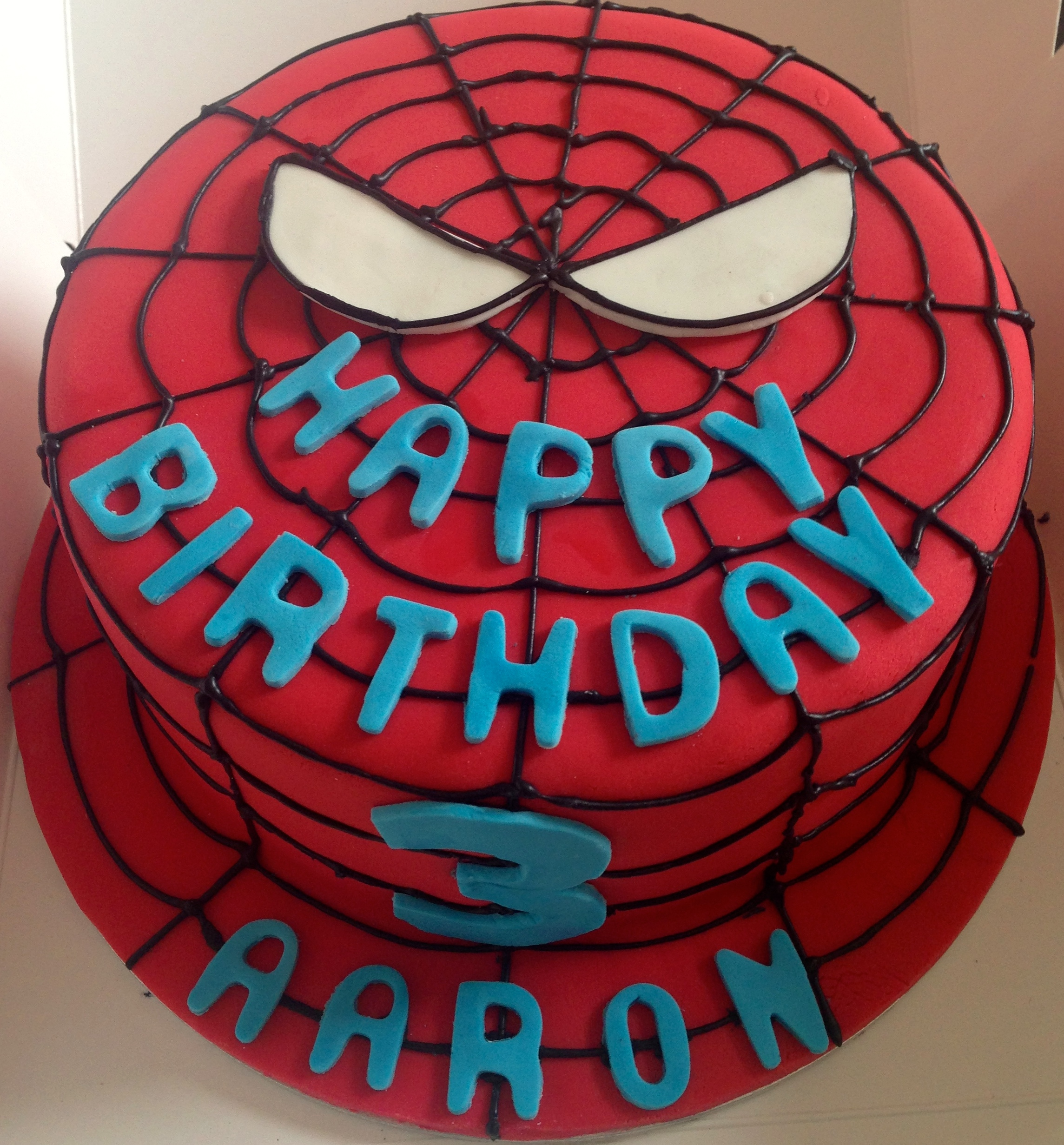 3rd Birthday Spiderman Cake