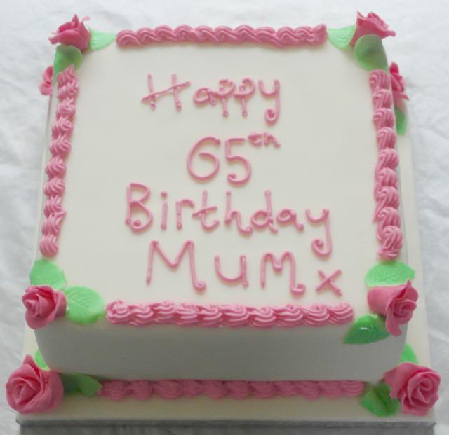 65th Birthday Cake for Mum