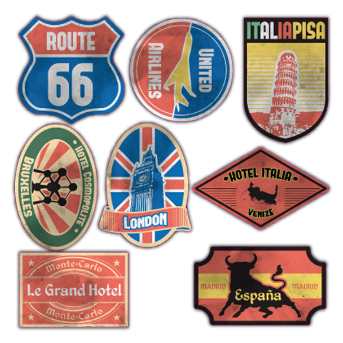 STS5-200200 Travel-Sticker-Set