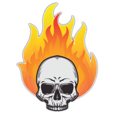 RFHLM42-9570-SKULLONFIRE