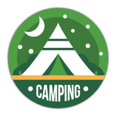 HBG4-9090-CAMPING-BADGE
