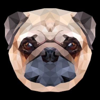ANDG18-9585-POLYGONAL-PUG-DOG