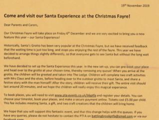 PTFA Santa Experience