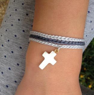 FILAMANT - Bijoux au crochet - bracelet croix