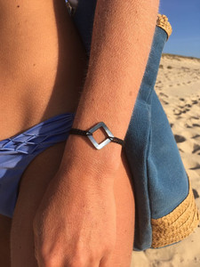 FILAMANT - Bijoux au crochet - bracelet losange