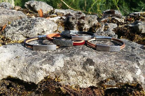 Bracelets acier et cuir - ENEKA KREATIONS