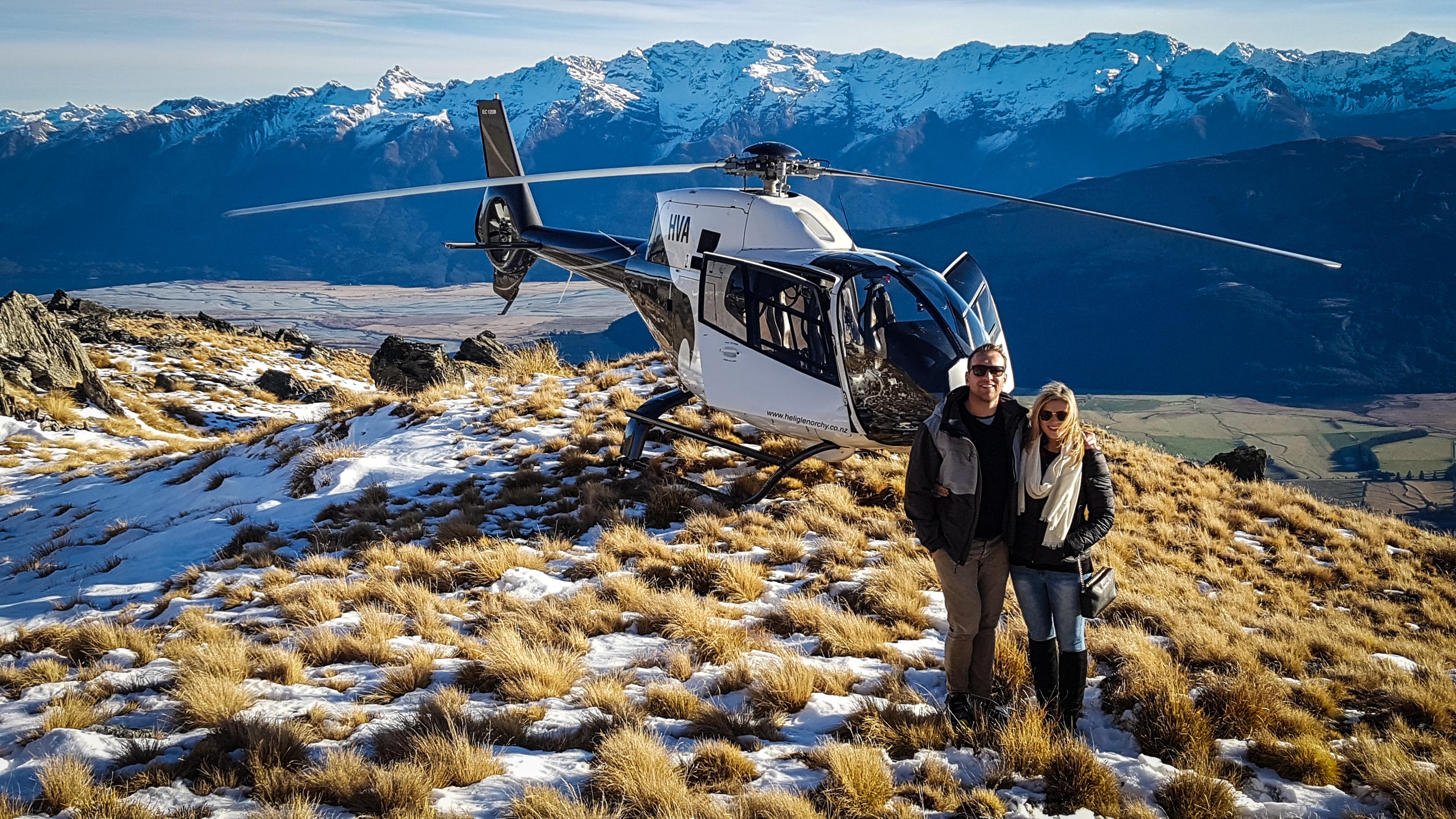 Heli Glenorchy Alpine Landing over Parad