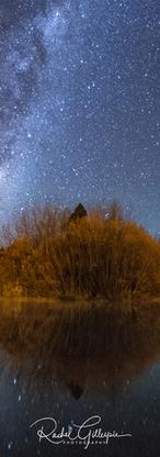 Milky Way Night of Reflection, Mackenzie NZ