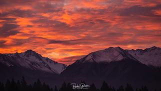 Ben Ohau Ranges Sunset