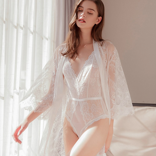Night gown White color