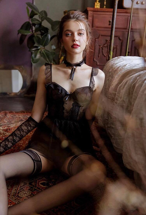 Dream Gothic Sexy Lingerie Black White Lace