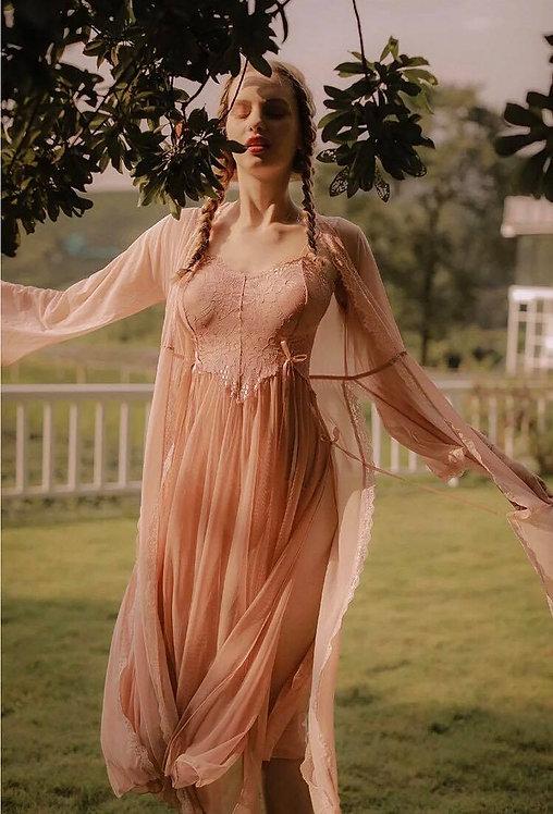 Sexy Lace Ladies Long Nightdress