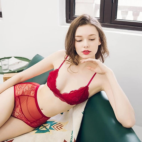 Sexy bra set Red and Black color