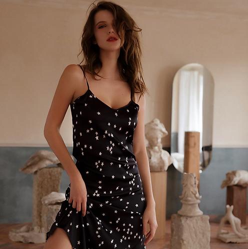 Lovely Letter Star Print Night Dress