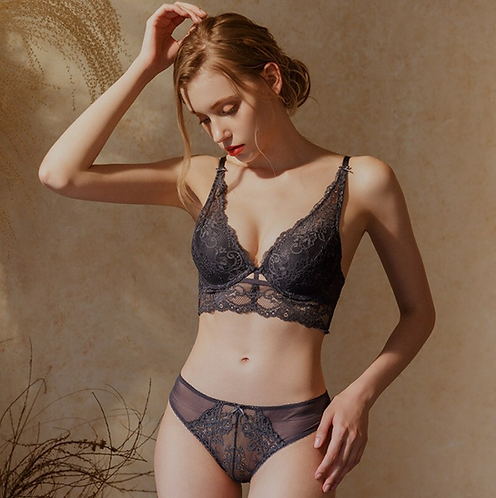 underwear set cross-border upper and lower thick sexy lace female