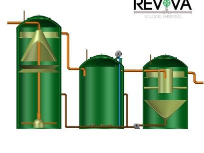Sistema de Alta Taxa de Remoção de Poluentes: