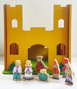 Castillo con 7 personajes