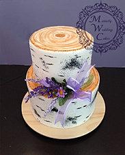 Rustic Birch Bark Wedding Cake