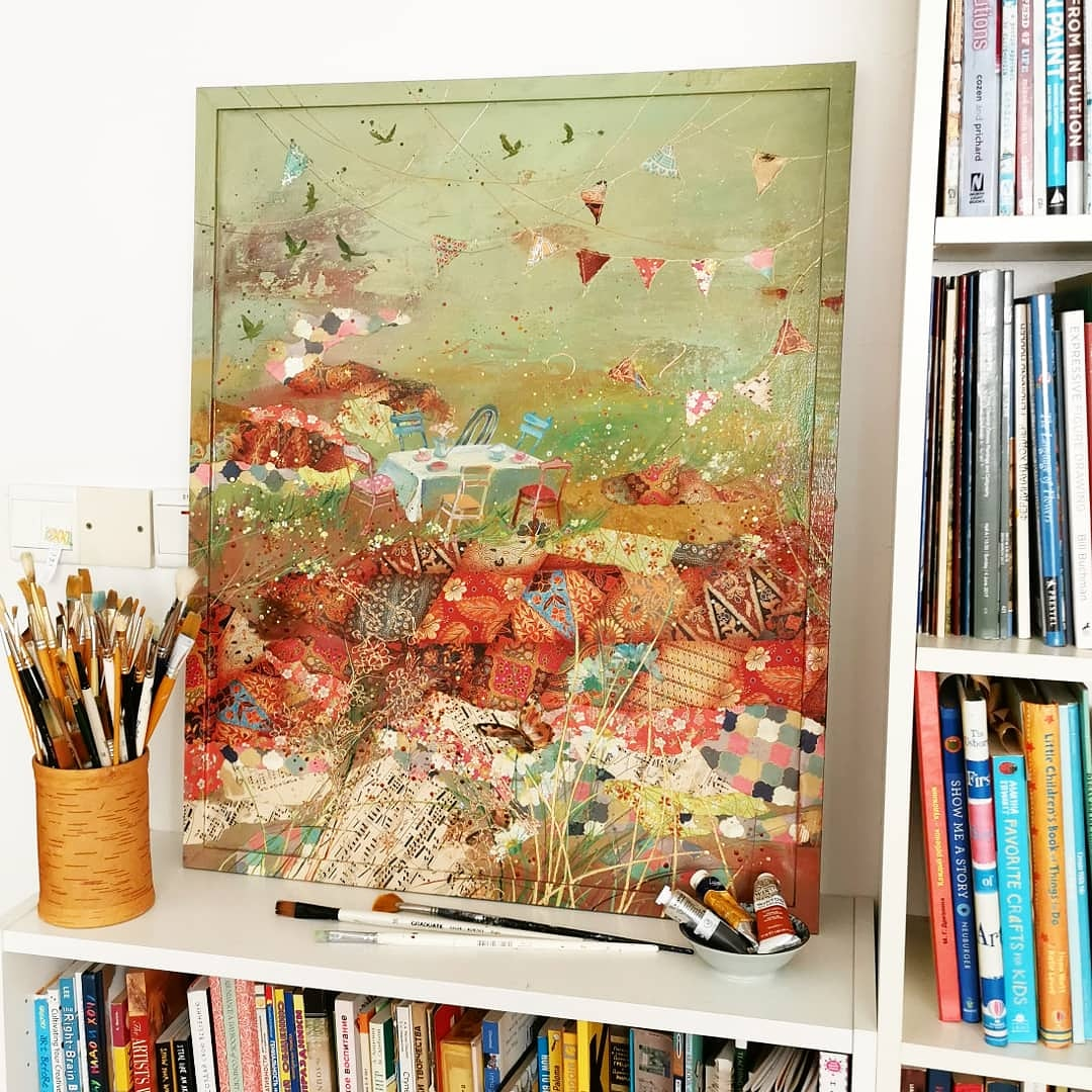 """Windy garden"" 2019, 40cm, S$2450"