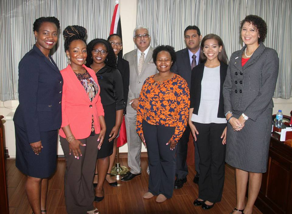 Aspiring medical students of the Spelman College Overseas programme during a visit the office of The