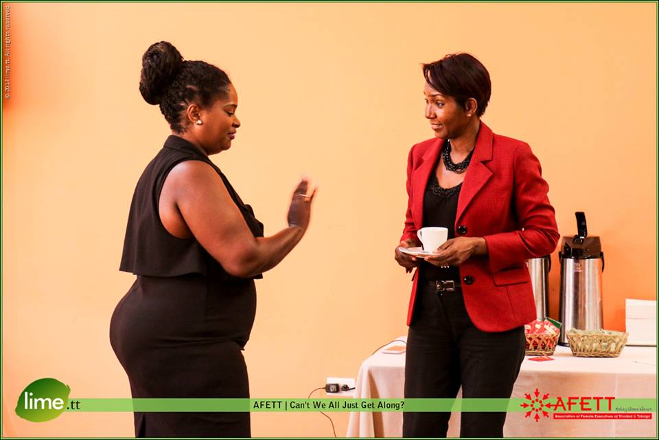 Sherleen Young chats with President-Elect Charlene Pedro