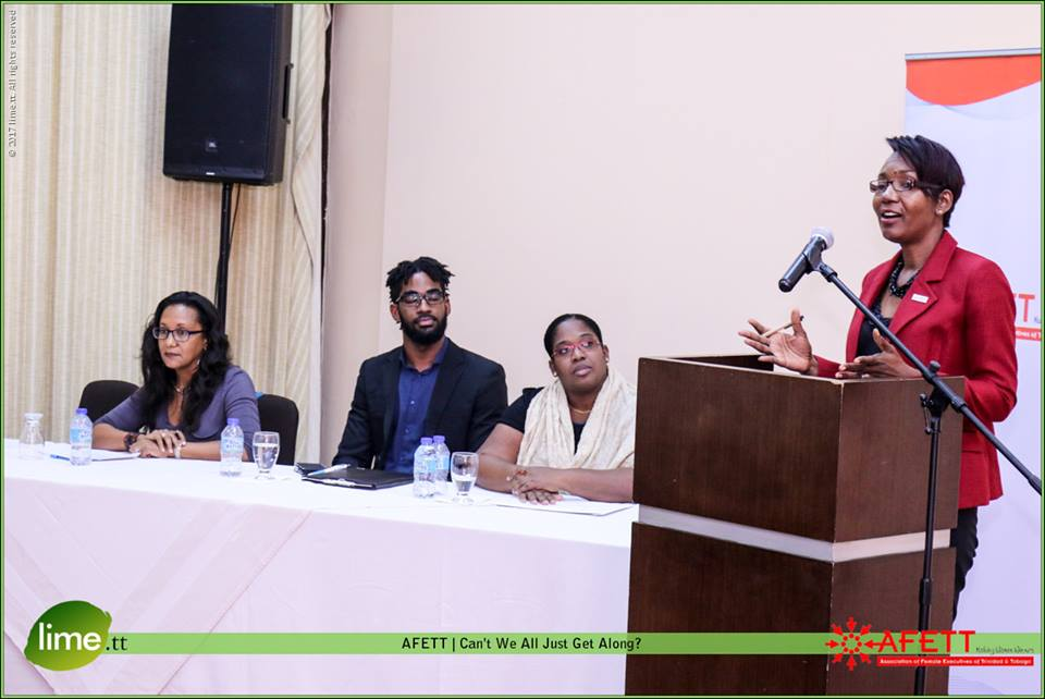 Our panelists along with President-Elect Charlene Pedro who acted as MC of the proceedings