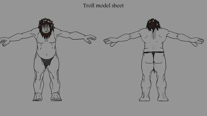 Sculpting the Troll