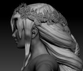 Sculpt: Huldra Head Side