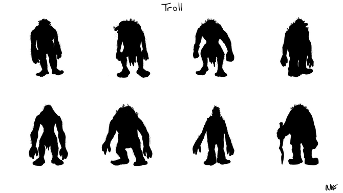 Designing the characters - the Troll
