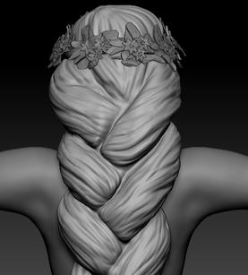 Sculpt: Huldra Head Back