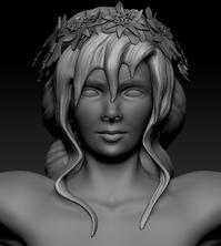 Sculpt: Huldra Head Front