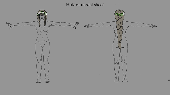 Sculpting Huldra