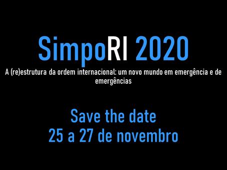 SAVE THE DATE: O SimpoRI 2020 está chegando!