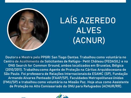 Laís Azeredo Alves (ACNUR) estará no SimpoRI!