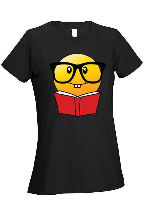 Women's Ladies T Shirt Book Reader